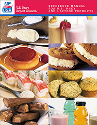 Reference manual for U.S. whey and lactose