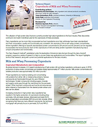 coproducts of milk and whey processing