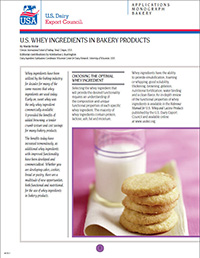 whey ingredients in bakery products