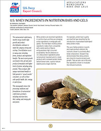 whey ingredients in nutrition bars and gels