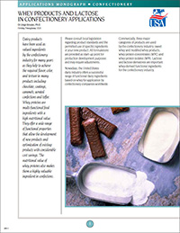 whey and lactose in confectionary applications