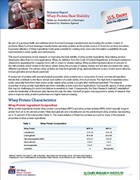 whey protein heat stability report