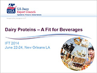 dairy proteins a fit for beverages