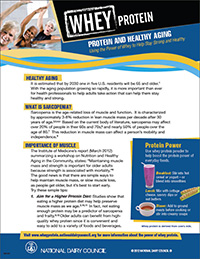 whey protein and healthy aging