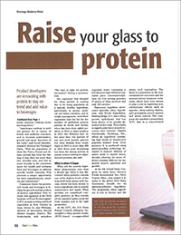 raise your glass to protein