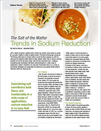trends in sodium reduction