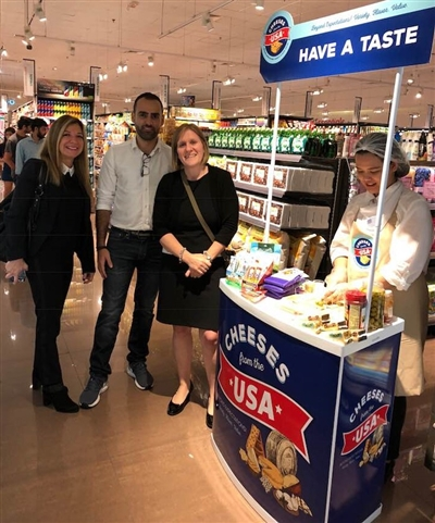 USDEC staff at a Middle East cheese promotion activity.