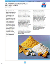 whey products in snacks and seasonings