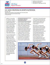 whey proteins in sports nutrition