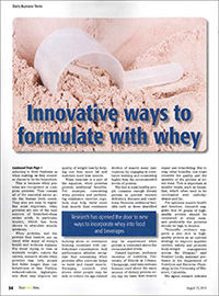 innovative ways to formulate with whey
